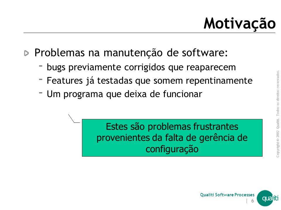 Copyright © 2002 Qualiti. Todos os direitos reservados. Qualiti Software Processes | 5 Pré-requisitos Noções de Engenharia de Software