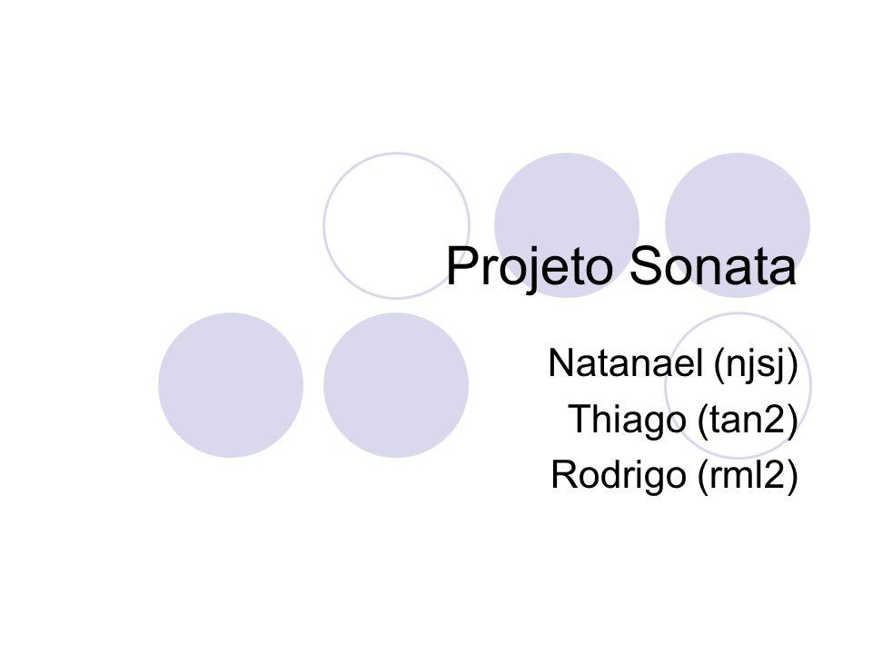 Projeto Sonata Natanael (njsj) Thiago (tan2) Rodrigo (rml2)