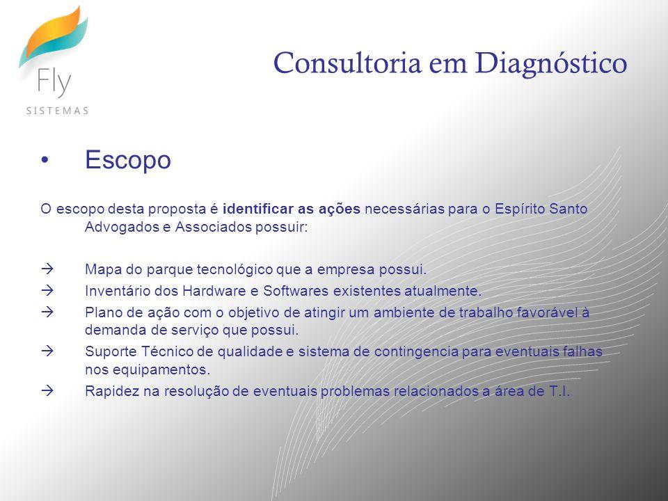 Fases do Diagnóstico 1.Entendimento do Cenário Atual 2.Coleta de Informações 3.Identificação de Melhorias