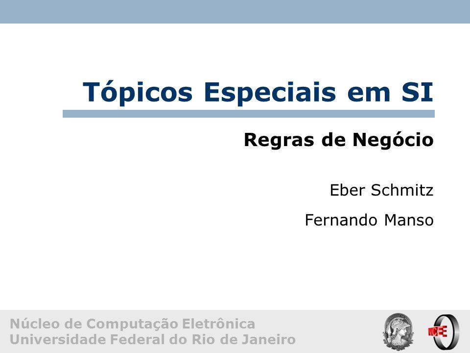 Núcleo de Computação Eletrônica Universidade Federal do Rio de Janeiro Tópicos Especiais em SI Regras de Negócio Eber Schmitz Fernando Manso