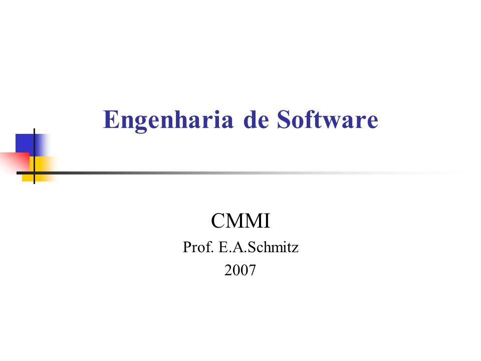 CMMI Recomendações de práticas específicas e genéricas Organizadas por Área de Processo Descreve um caminho evolucionário para a geração de software Possui práticas de planejamento, engenharia e gerência Níveis de: maturidade e capacidade Adoção pela representação nivelada ou contínua