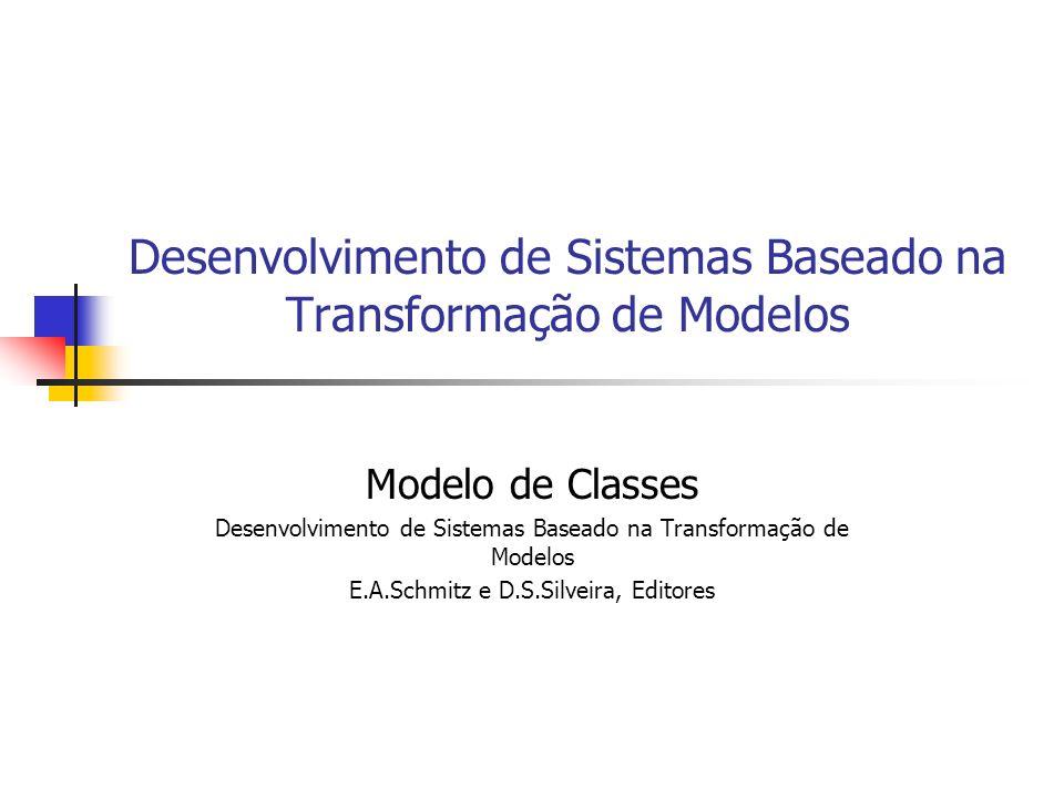 Desenvolvimento de Sistemas Baseado na Transformação de Modelos Modelo de Classes Desenvolvimento de Sistemas Baseado na Transformação de Modelos E.A.