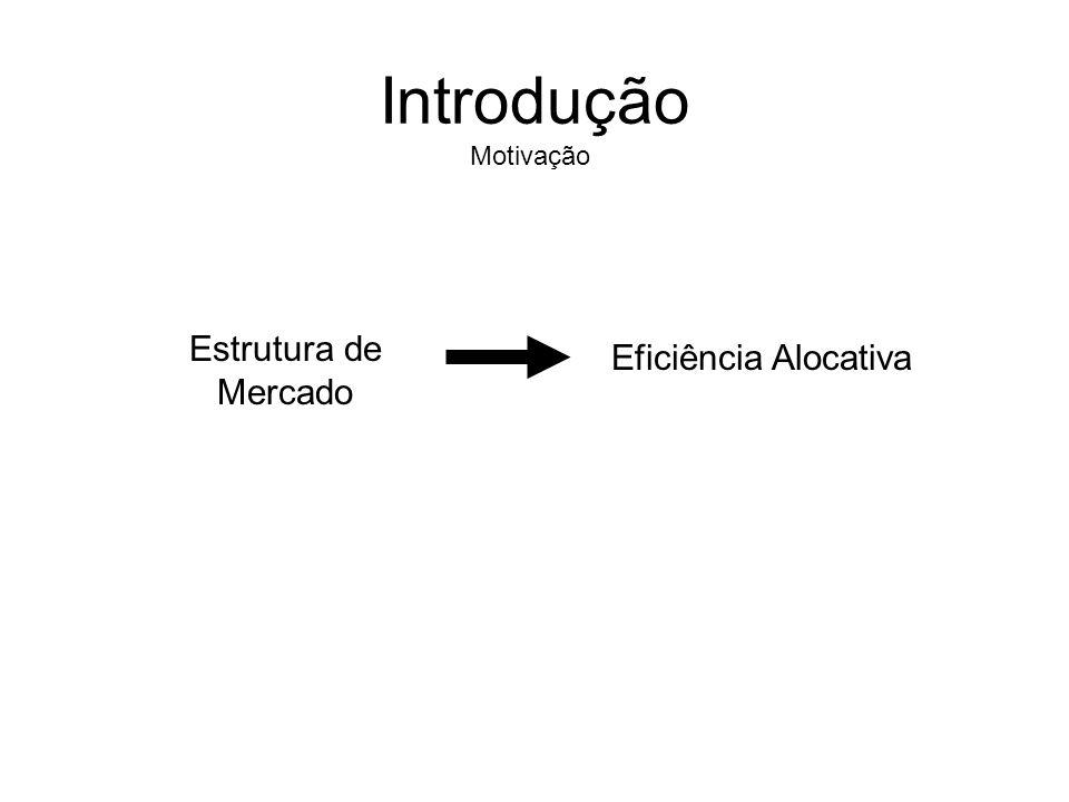 Introdução Motivação Estrutura de Mercado Eficiência Alocativa