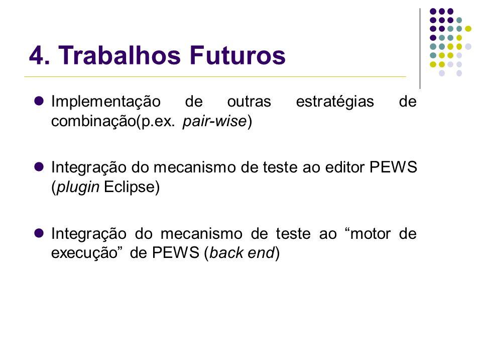 4. Trabalhos Futuros Implementação de outras estratégias de combinação(p.ex.