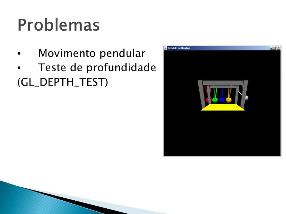 Problemas Movimento pendular Teste de profundidade (GL_DEPTH_TEST)