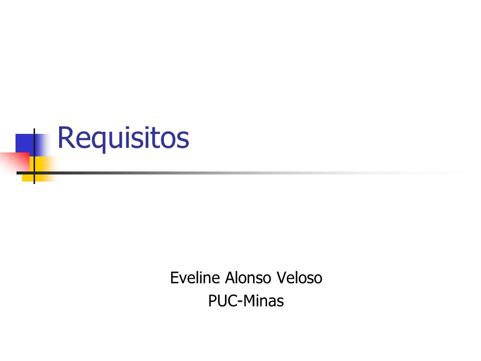 Requisitos Eveline Alonso Veloso PUC-Minas