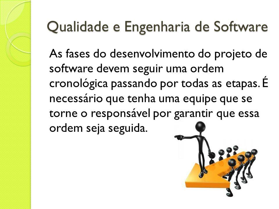 As fases do desenvolvimento do projeto de software devem seguir uma ordem cronológica passando por todas as etapas. É necessário que tenha uma equipe
