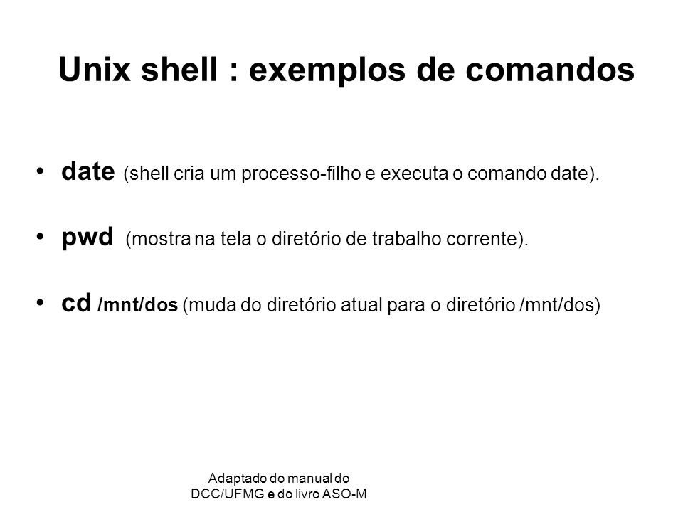 GRC - Gerência de Recursos Computacionais Adaptado do manual do DCC/UFMG e do livro ASO-M Arquivos no Unix Os nomes dos arquivos e diretórios podem ter até 256 caracteres significativos.
