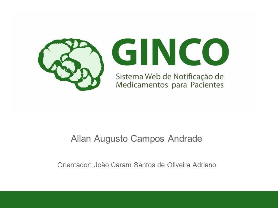 1 Allan Augusto Campos Andrade Orientador: João Caram Santos de Oliveira Adriano