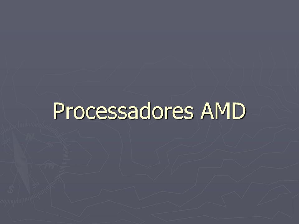 ATHLON CLÁSSICO Também chamado de K7 Cache acessada à 1\3 da freqüencia do processador 0.25 Mícrons Mais barato do que o Pentium 3