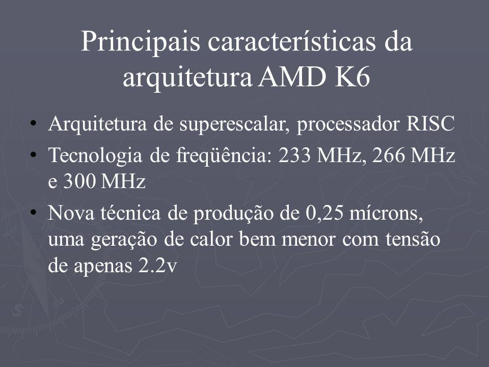 DURON Concorrente direto do Celeron É um processador Athlon destinado a micros baratos Novo padrão de pinagem (soquete A) Possui 32KB de cache a mais que o Celeron
