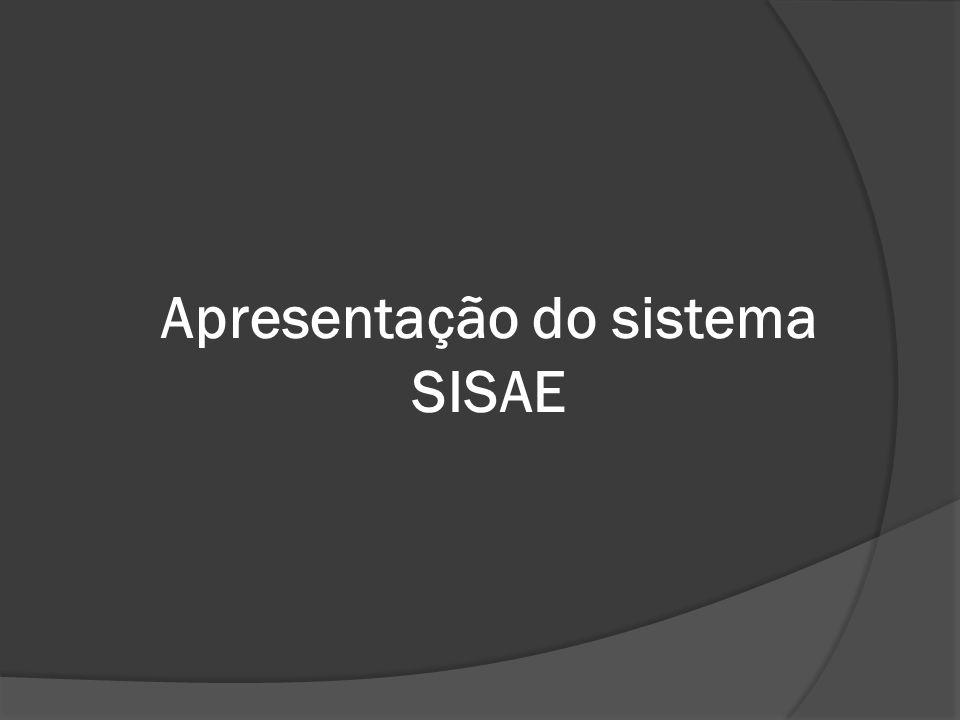 Apresentação do sistema SISAE