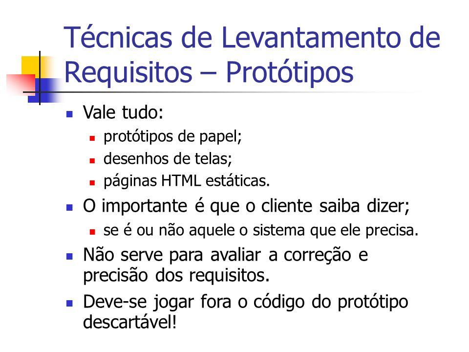 Vale tudo: protótipos de papel; desenhos de telas; páginas HTML estáticas. O importante é que o cliente saiba dizer; se é ou não aquele o sistema que