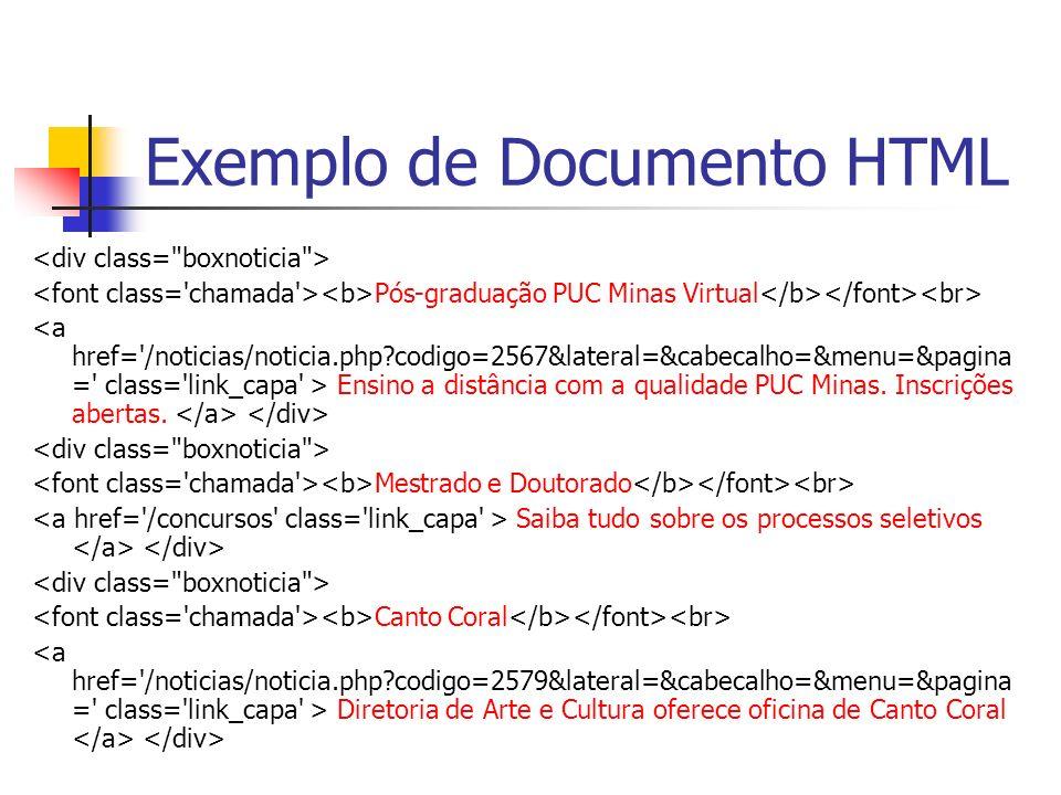 Exemplo de Documento HTML Pós-graduação PUC Minas Virtual Ensino a distância com a qualidade PUC Minas. Inscrições abertas. Mestrado e Doutorado Saiba