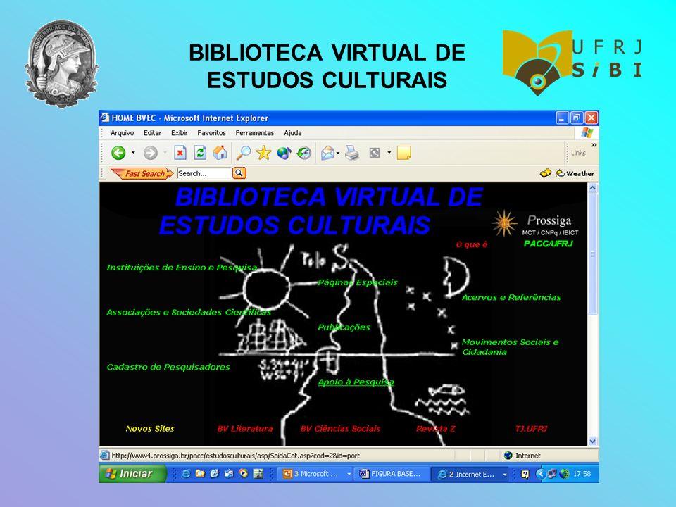 BIBLIOTECA VIRTUAL DE ESTUDOS CULTURAIS