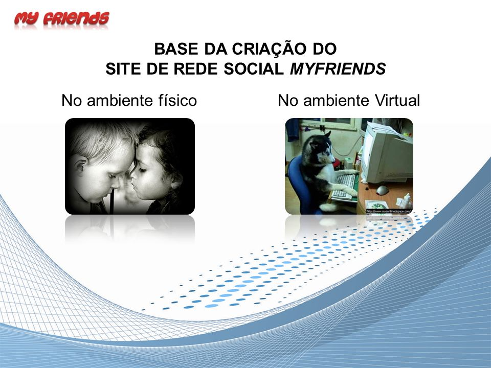 BASE DA CRIAÇÃO DO SITE DE REDE SOCIAL MYFRIENDS No ambiente físicoNo ambiente Virtual