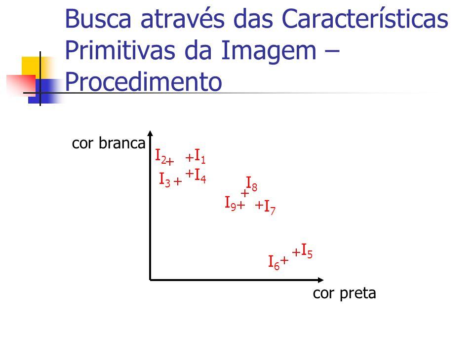 Busca através das Características Primitivas da Imagem – Procedimento cor preta cor branca I1I1 I2I2 I3I3 I4I4 I5I5 I6I6 I7I7 I8I8 I9I9