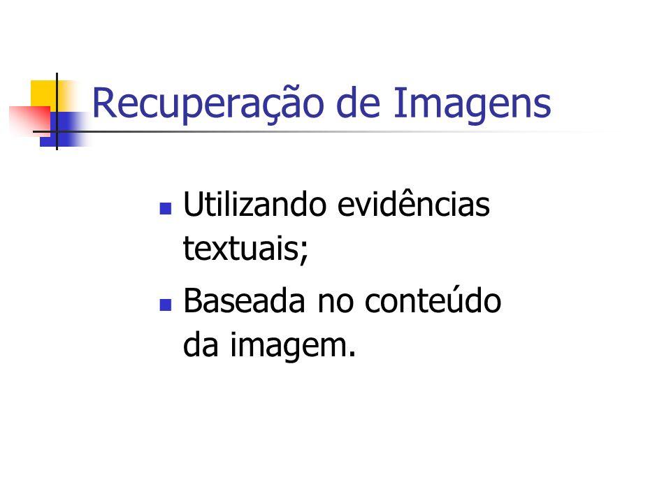 Recuperação de Imagens Utilizando evidências textuais; Baseada no conteúdo da imagem.