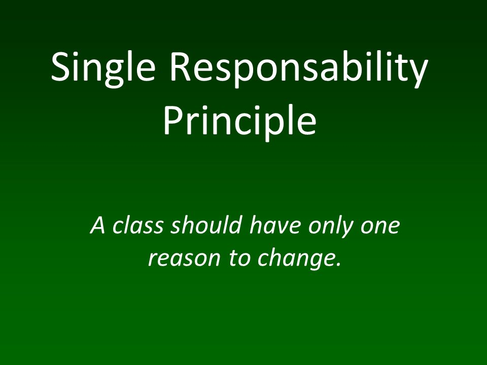 SRP ou coesão é um dos princípios básicos de OO.