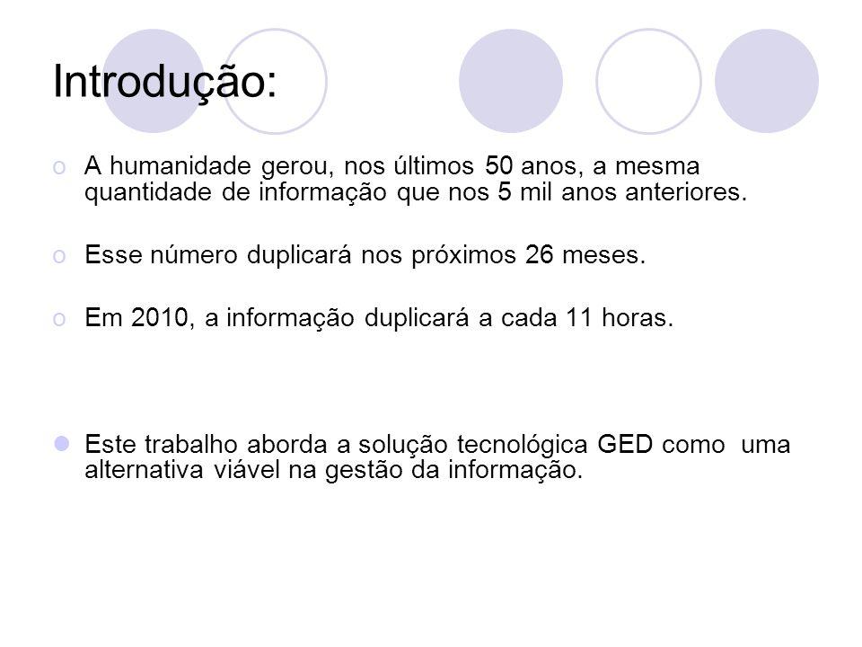 Referências: http://www.cenadem.com.br/bcases.php http://pt.wikipedia.org/wiki/Gerenciamento_eletr%C3%B4nico _de_documentos www.msdn.com.br http://www.triscal.com.br/portal/page/portal/Triscal/Servi%E7o s%20e%20Consultoria/GED