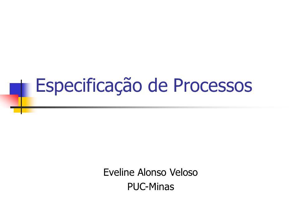 Especificação de Processos Eveline Alonso Veloso PUC-Minas