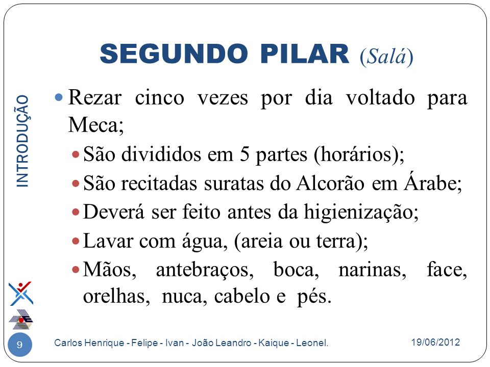 30 DIVISÕES DO ISLAMISMO Carlos Henrique - Felipe - Ivan - João Leandro - Kaique - Leonel.