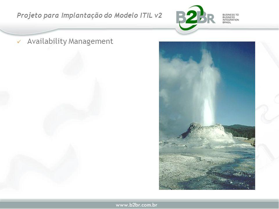Availability Management Projeto para Implantação do Modelo ITIL v2