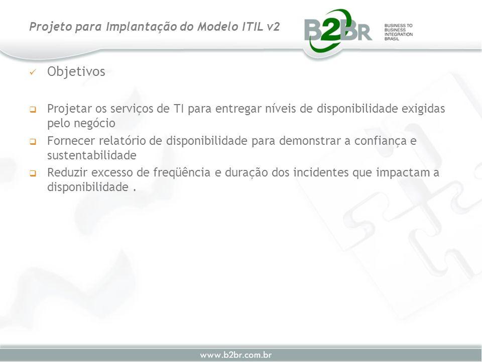 Objetivos Projetar os serviços de TI para entregar níveis de disponibilidade exigidas pelo negócio Fornecer relatório de disponibilidade para demonstr