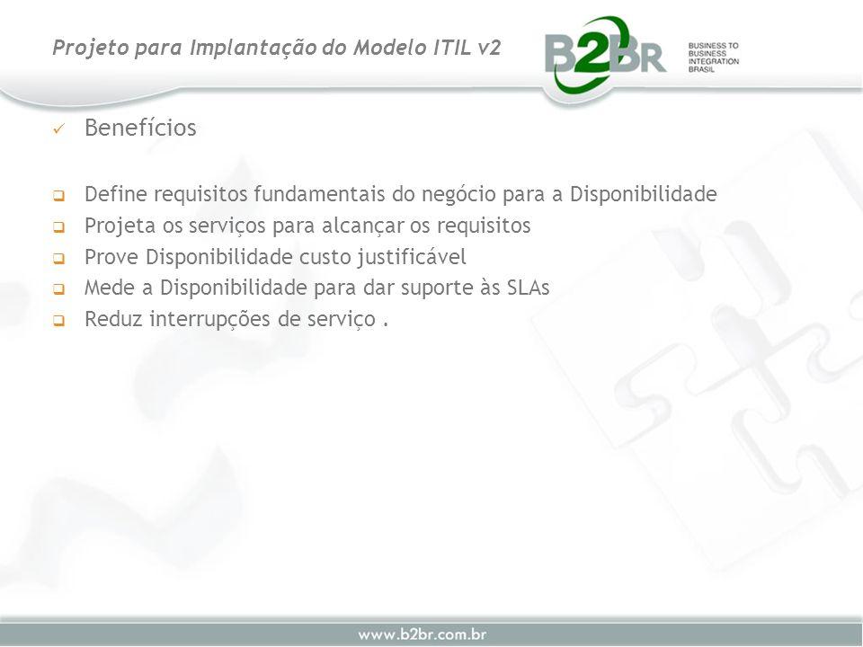Benefícios Define requisitos fundamentais do negócio para a Disponibilidade Projeta os serviços para alcançar os requisitos Prove Disponibilidade cust