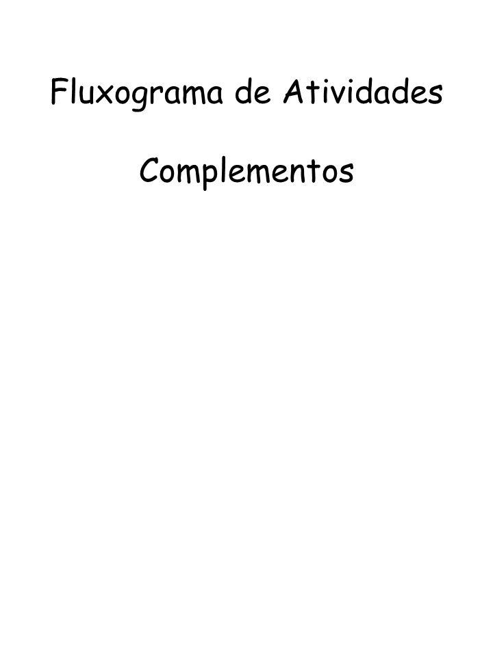 Fluxograma de Atividades Complementos