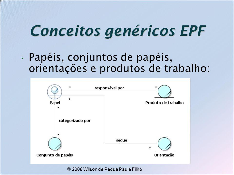 © 2008 Wilson de Pádua Paula Filho Conceitos genéricos EPF Papéis, conjuntos de papéis, orientações e produtos de trabalho: