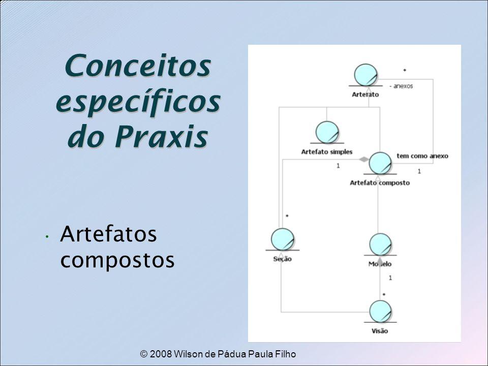 © 2008 Wilson de Pádua Paula Filho Conceitos específicos do Praxis Artefatos compostos