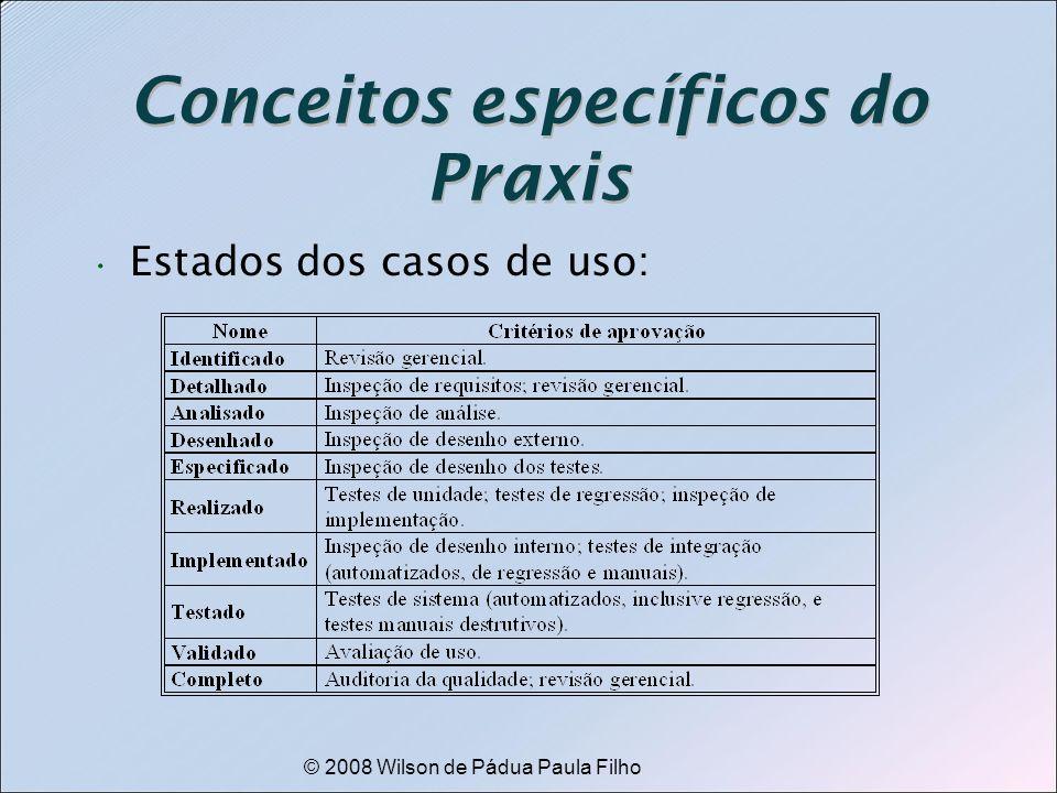 © 2008 Wilson de Pádua Paula Filho Conceitos específicos do Praxis Estados dos casos de uso: