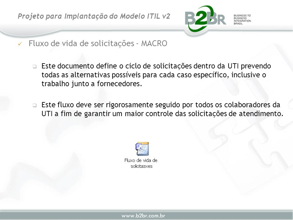 Fluxo de vida de solicitações - MACRO Este documento define o ciclo de solicitações dentro da UTI prevendo todas as alternativas possíveis para cada c