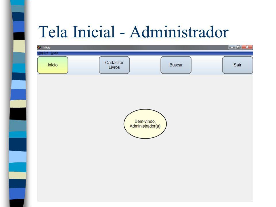 Tela Inicial - Administrador