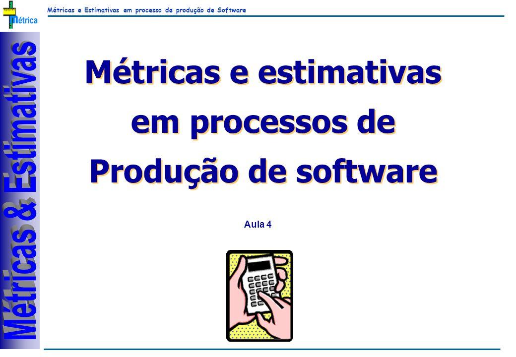 Métricas e Estimativas em processo de produção de Software RiKos Métricas e estimativas em processos de Produção de software Métricas e estimativas em processos de Produção de software Aula 4