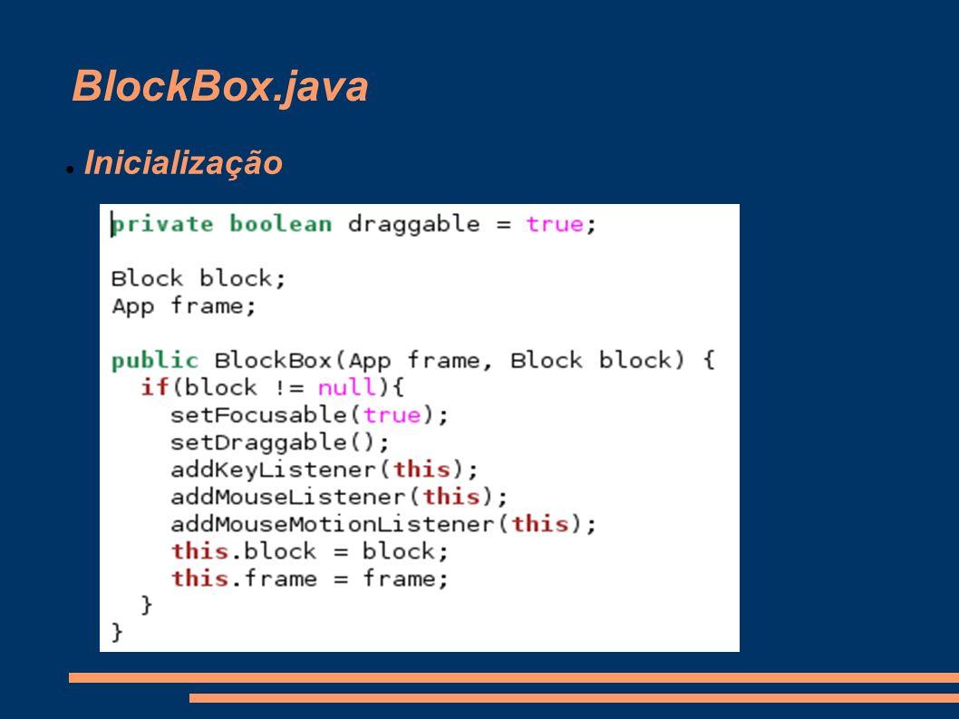 BlockBox.java Inicialização