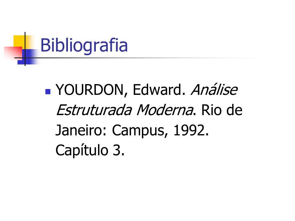 Bibliografia YOURDON, Edward. Análise Estruturada Moderna. Rio de Janeiro: Campus, 1992. Capítulo 3.