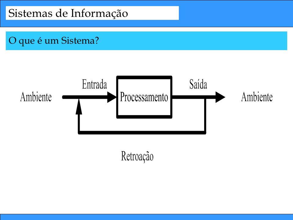 Sistemas de Informação O que é um Sistema?