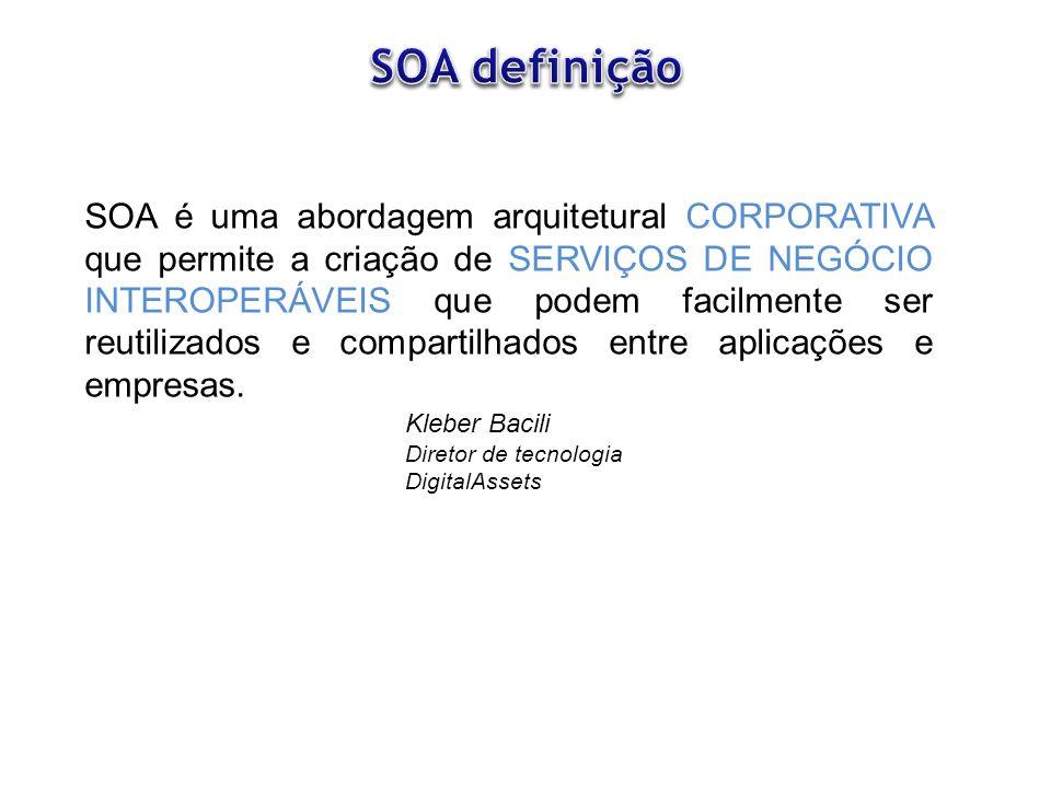 - Subestimar a complexidade técnica da adoção de SOA em larga escala.