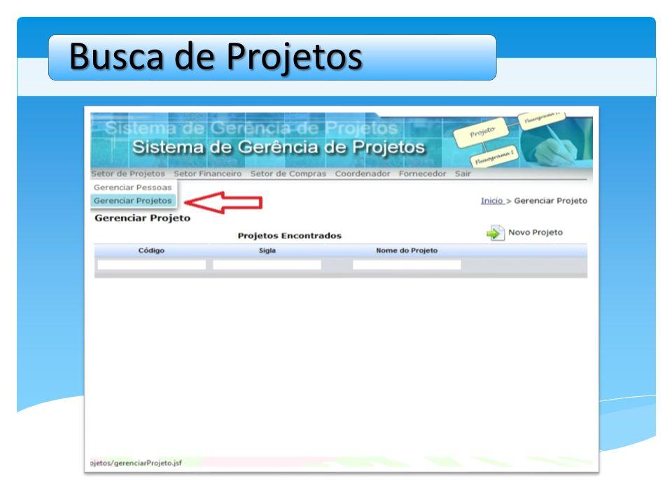 Busca de Projetos