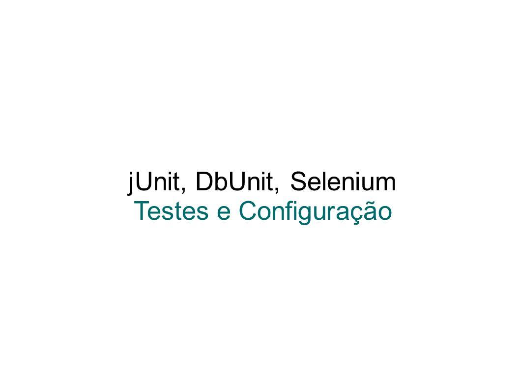 jUnit, DbUnit, Selenium Testes e Configuração