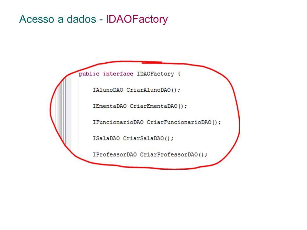 Acesso a dados - IDAOFactory