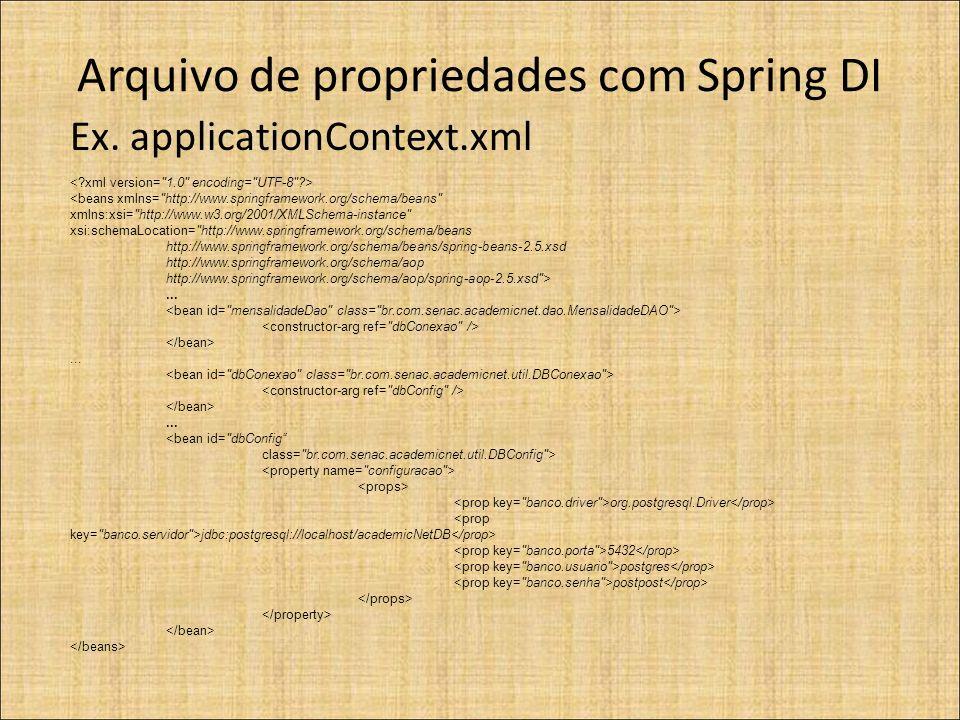 Arquivo de propriedades com Spring DI Ex.
