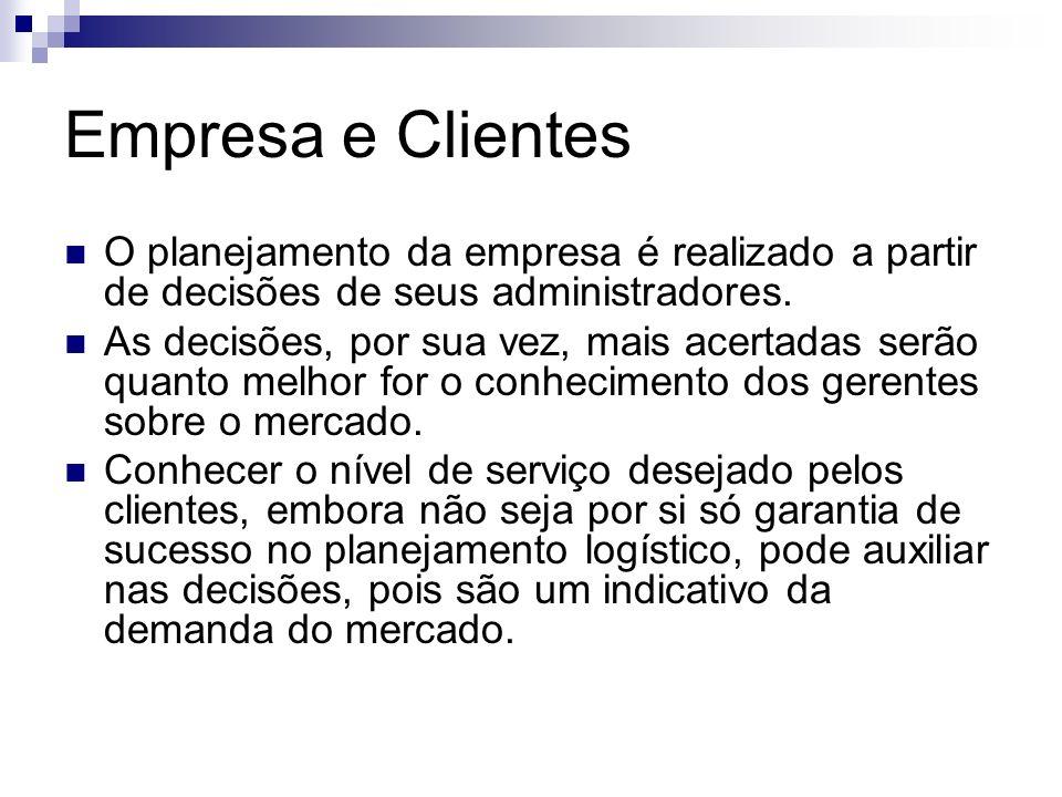 Empresa e Clientes O planejamento da empresa é realizado a partir de decisões de seus administradores. As decisões, por sua vez, mais acertadas serão