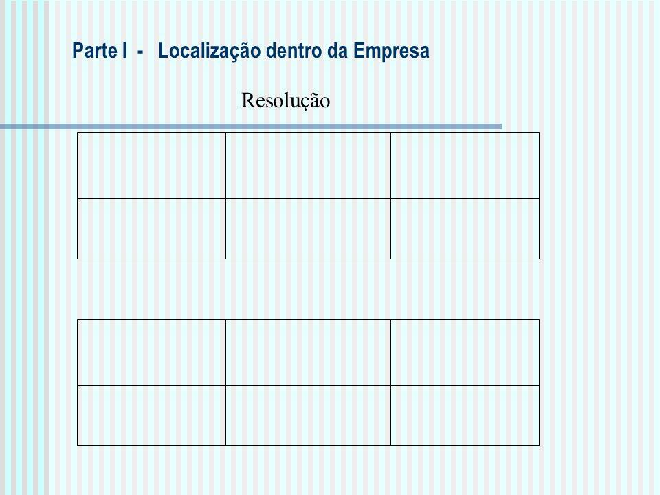 Resolução Parte I - Localização dentro da Empresa