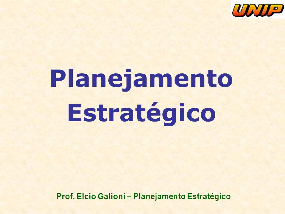 Prof. Elcio Galioni – Planejamento Estratégico Planejamento Estratégico