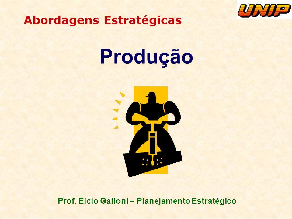 Prof. Elcio Galioni – Planejamento Estratégico Abordagens Estratégicas Produção