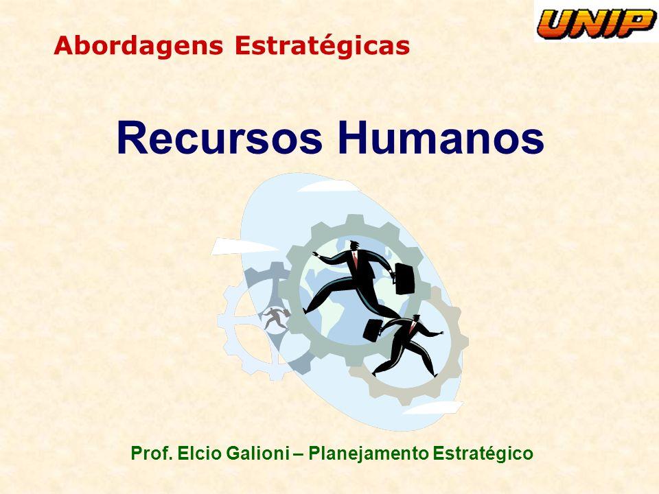 Prof. Elcio Galioni – Planejamento Estratégico Abordagens Estratégicas Recursos Humanos