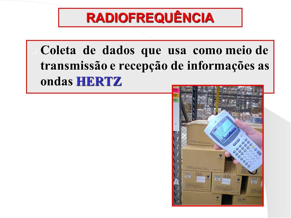 RADIOFREQUÊNCIA Coleta de dados que usa como meio de transmissão e recepção de informações as ondas HERTZ Coleta de dados que usa como meio de transmi